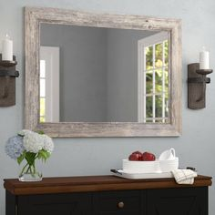 online shopping for Traditional Beveled Distressed Accent Mirror August Grove from top store. See new offer for Traditional Beveled Distressed Accent Mirror August Grove Farmhouse Mirrors, Coastal Farmhouse, Coastal Cottage, Coastal Living, Unique Mirrors, Beautiful Mirrors, Decor Scandinavian, Coastal Bathrooms, Modern Bathrooms