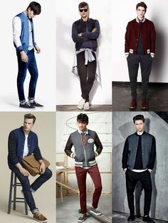 Men's Transitional Outerwear - The Varsity Jacket - Outfit Inspiration Lookbook