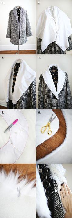 Detachable Fur Coat Collar DIY abeautifulmess.com