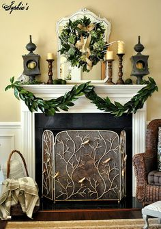 How to Make a Garland with Magnolia Leaves: now if only magnolia trees grew here....