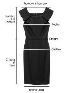 Patrón de vestido con instructivo de medidas