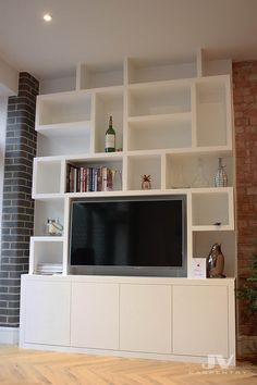 fitted cupboards with random shelves