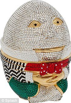 A Judith Leiber Humpty Dumpty beaded clutch. These most exclusive of handbags actually increase in value over time.