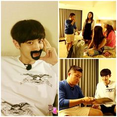 Chanyeol disguises himself so he could 'escape' the fans waiting in front of the hotel in Taiwan for the next episode of SBS 'Roommate' (source)