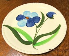 Spring Glory - found 3 plates at a thrift store in Selingsgrove. Mccoy Pottery, Love Blue, Fine Porcelain, Blue Ridge, Candlesticks, Kitchen Items, Patterns, Antiques, Thrift