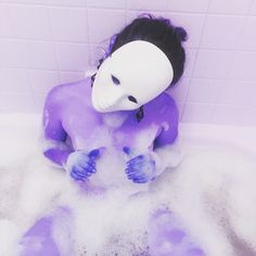 Let's free the nipple together #freethenipple #mask #nude #abstract #abstractedit #art #artist #artistic #express #ftn #openminded #equality #3dprinting #3d #purple #bath #bathtime by brooklyn_witteman