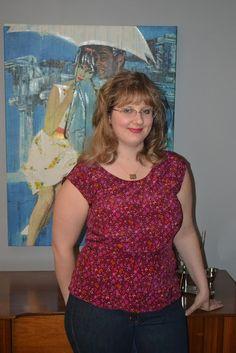 Erika Made It: Portrait Blouse