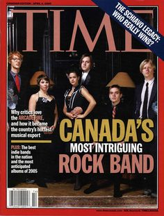 Arcade Fire on TIME Cover.  Canadian Rock (Indie) Band wins Grammy