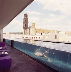 over the top, i know. but oh, how i would love this! terrace and pool at la purificadora hotel in puebla, mexico.
