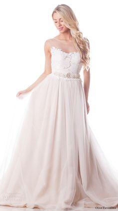 olia zavozina bridal spring 2017 sleeveless illusion neck ball gown wedding dress (elena) mv