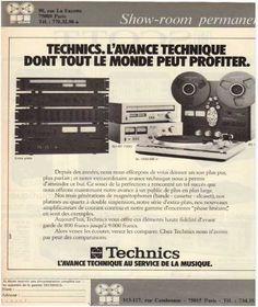 Publicités de la hifi,Technics