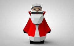 Ded Moroz Figure  New Year Papercraft Doll  Christmas Decor