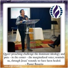 Queer preach challenge the dominant ideology and puts - in the center - the marginalized voice; reminds us, through Jesus' wounds we have been healed. - Pastor Rosario #sundaysermon #achurchforallsac #achurchforall #lgbtqsacramento #northhighlands #pastorrosariosays