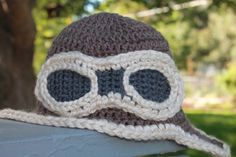Buy Aviator Hat. 18 Months to 2 Years      +Order Custom Sizes by peachstreetcreations. Explore more products on http://peachstreetcreations.etsy.com