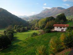 Baztan Valley in Navarra, Spain