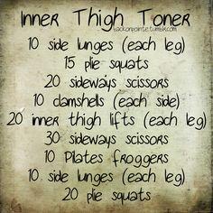 inner thighs.