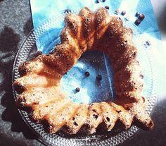 Terveellinen mustikka-banaanikakku (g, m) / Healthy blueberry-bananacake, glutenfree & dairy free