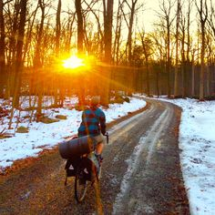 nutmegcountry: Photo by Ultraromance. Rio, Bike Pic, Touring Bike, Winter Camping, Cycling Art, Take Me Home, Road Bikes, Paths, Places To Go
