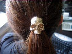 skull hair tie