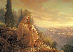 Wall Art - Painting - O Jerusalem by Greg Olsen Greg Olsen Art, My Redeemer Lives, Mormon Temples, Padre Celestial, Church Events, Jesus Pictures, Jesus Pics, Religious Art, Jerusalem
