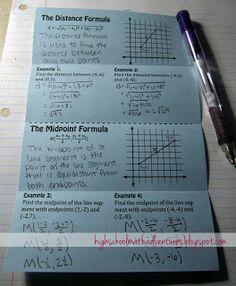 High School Math Adventures with Mrs. B: Distance and Midpoint Formula geometry Maths Algebra, Math Tutor, Math Teacher, Math Classroom, Math Education, Math Fractions, Math 2, Teacher Stuff, Future Classroom