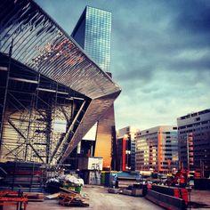 Rotterdam Centraal station in aanbouw