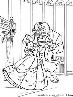 Beauty And The Beast Belle Coloring Page