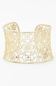 Gorgeous lattice cuff bracelet by Kendra Scott