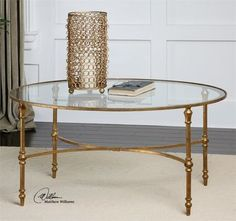 Uttermost Vitya Glass Coffee Table