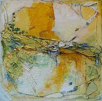 """Inge Philippin - """"The Well 1"""" - mixed media on canvas"""