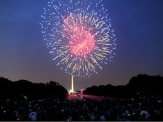 fireworks from up in the sky | Independence Day fireworks light up Washington sky - video