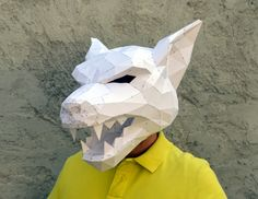 Make Your Own Werewolf Mask. Papercraft Werewolf by PlainPapyrus