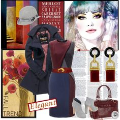 """Burgundy: The New Black""  on Polyvore <3 <3"