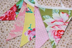 Shabby Bunting Banner As Shown Fabric Garland by StarlitNestGifts, $22.00