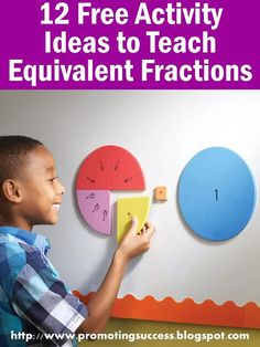 How to Teach Equivalent Fractions - Watch this video for six activity ideas to teach equivalent fractions! Then scroll down for 6 more ideas!