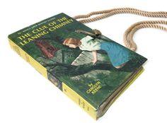 Book Purse Nancy Drew Clue of the Leaning Chimney by retrograndma, $39.99