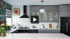 Interior Design —Dramatic, Boldly Decorated Family Ikea Kitchen Makeover - YouTube