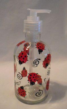 Ladybug soap dispenser