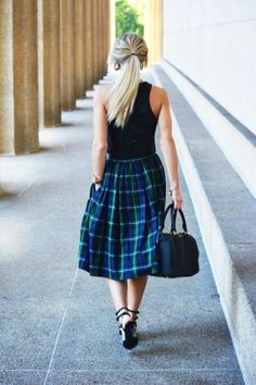 How To Style A Midi Skirt | theglitterguide.com