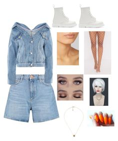 Lola's Denim 🐰👖 by honeyysy on Polyvore featuring M.i.h Jeans, Topshop, Dr. Martens, Hourglass Cosmetics, WithChic and Gucci