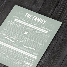 INSTANT DOWNLOAD /// The Family: A by CollectivityLane on Etsy