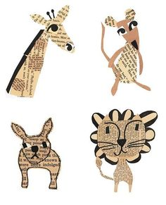 These collage pieces embody everything we love about art for the nursery. They're sweet and simple, but still sophisticated and chic. Best of all, they're animals!