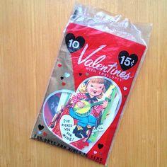 Vintage 1950s Valentines Package of 10 NOS Unopened Unused
