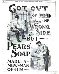 Pears soap advertisement. From Punch, 1900.
