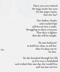 It's okay not to be fine.
