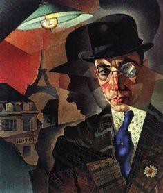 Yuriy Annenkov - Portrait of M.A.Sherling (1918) by shakko.kitsune, via Flickr