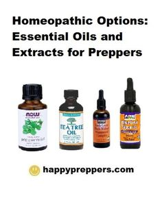 Healing extracts and esssential oils for preppers