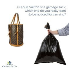 Louis Vuitton or a garbage sack - which one do YOU want to be spending your time with?    Delegate doing the dirty and mucky stuff to us, we're here for you.  .  .  .  .  .  #louisvuitton  #luxurylife  #cleanerstogo  #putyourfeetup  #keepasecret  #domesticgoddess  #domesticcleanerspeterborough  #peterboroughcleaners  #peterboroughdomestics  #housekeepingpeterborough  #domesticcleaning  #cleaning   #cleaners   #housekeeping  #cleaningservice