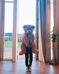 the teddy bear size is like felix size/// y'all remember when he almost died trying to bring all his stuffed animals into the dorm 😭😂