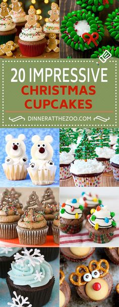 Christmas Cupcake Recipes | Holiday Cupcakes | Cute Cupcakes